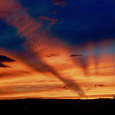 Sunset, Crepuscular Rays and Hurricane Rosa