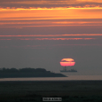 Distorted Sun Observed from Langeoog, Germany