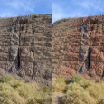Intrusive Igneous Dike in Northwestern Arizona