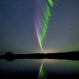 Picket Fence Aurora Observed from Isle Royale, Michigan