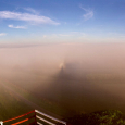 Fogbow, Glory and Brocken Spectre Observed from Viterbo Airport