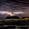 Lightning Over Torres, Rio Grande do Sul, Brazil