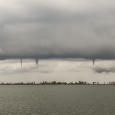 Multiple Spouts Over Eastern Lake Ontario