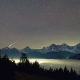 Bernese Alps Panorama and Taurid Meteor