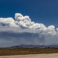 Pyrocumulus Cloud Above the Cranston Fire