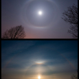 Circumscribed Lunar Halo and Solar Halo Display