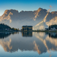 Lake Misurina in the Dolomite Alps