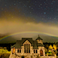 Moonbow Over Chapel on the Rock, Colorado