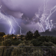 Lightning Display Above Potamia, Greece
