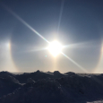 Sundogs Over Barrow, Alaska