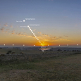 Sunset Trace During the Equinoxes