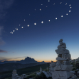 Lunar Analemma Observed Over Croda Rossa, Italy