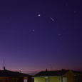 Iridium Flare and Conjunction of Venus and Jupiter