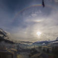 Halo Display Observed Over the Dolomite Alps