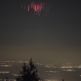Red Sprite and Bright Meteor