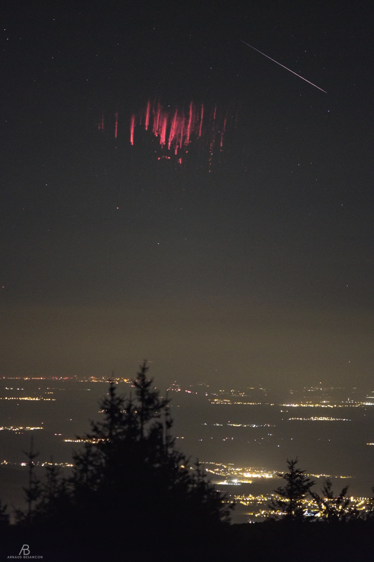 Perseid and sprite