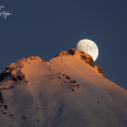 Alpenglow and Moonrise