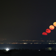 Moonrise Sequence from Sardinia, Italy