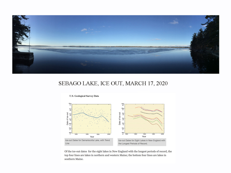 Sebago Lake approaching ice out 031820 USGS graph 18in