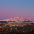 Mount Etna, Alpenglow and Belt of Venus