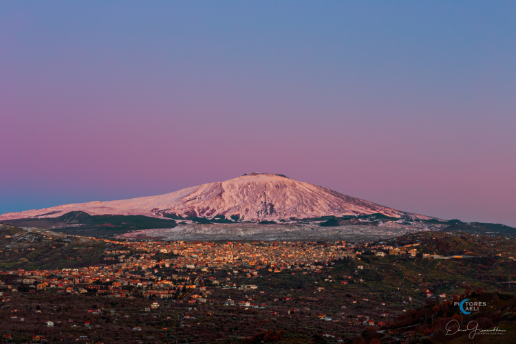 Venus Belt and Alpenglow on Moutn Etna - Unesco World Heritage Site EPOD