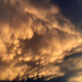 Sunrise Mammatus Clouds