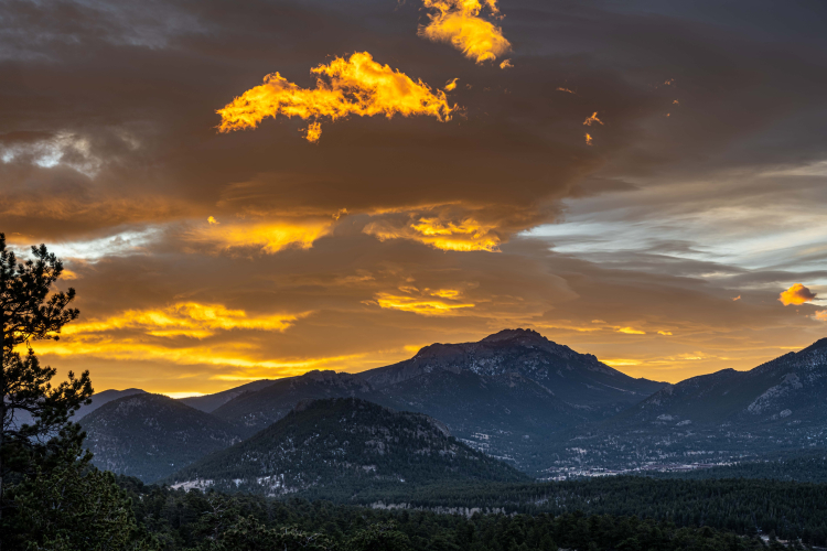 The Golden Hour at Rocky Mountain National Park