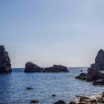 Sea Stacks off Aci Trezza, Italy