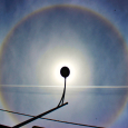 Solar Halo Over Thessaloniki, Greece