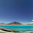 Panorama of Laguna Verde, Chile