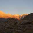 Sunrise over the Sierra Nevada Mountains