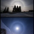 Solar Halo and Lunar Halo Observed from Zsámbék, Hungary