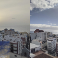 Views of Sahara Dust over the Canary Islands (Spain) and Paris, France