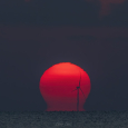 Omega Sun over South Padre Island, Texas