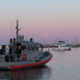 Pink Moon over Annapolis Harbor