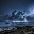 Thunderstorm on the Mediterranean Sea