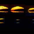 Green Flash Sequence Observed from Civitavecchia, Italy