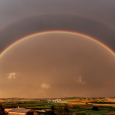 Double Rainbow on Evia, Greece