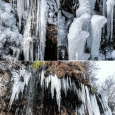 Ice Falls in Valganna, Italy