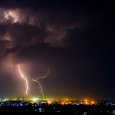 Cloud-to-Ground Lightning over Noida Extension, India