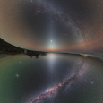Zodiacal Light Mosaic from North and South Hemispheres