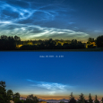 Noctilucent Clouds Over Northern Italy